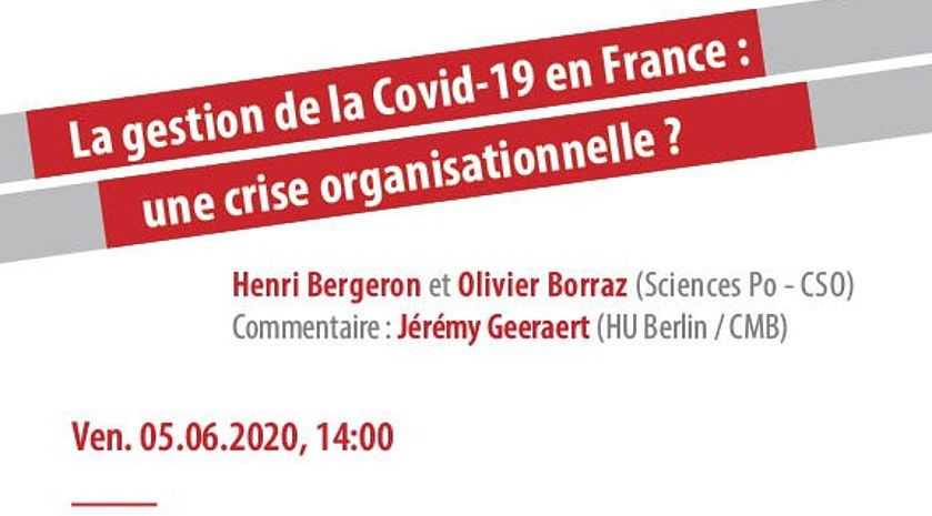 Video - La gestion de la Covid-19 en France : une crise organisationnelle ?