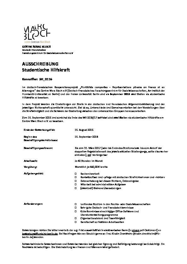pdf - Studentische Hilfskraft Bewerbung